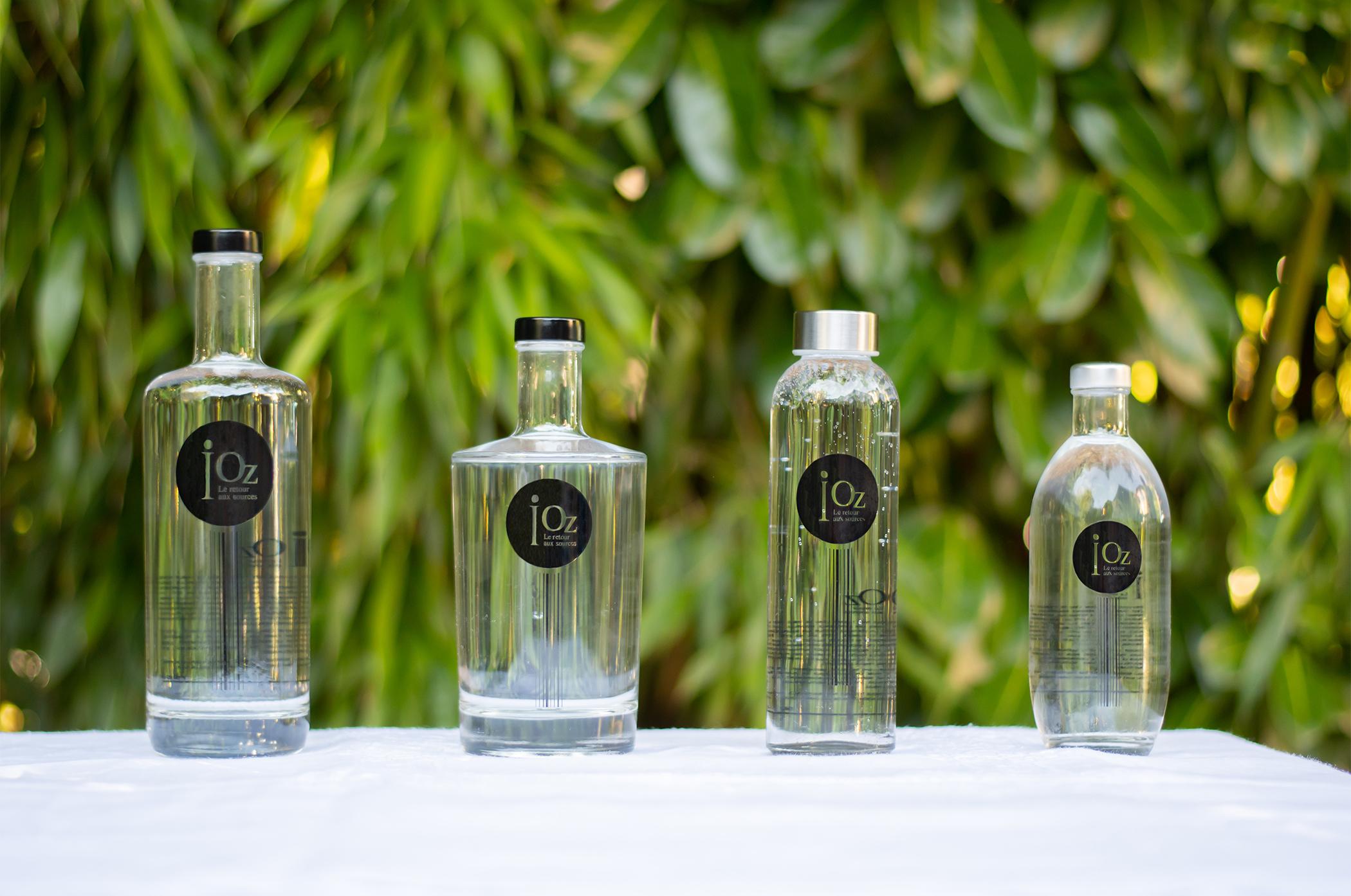 photo des différentes bouteilles iOz