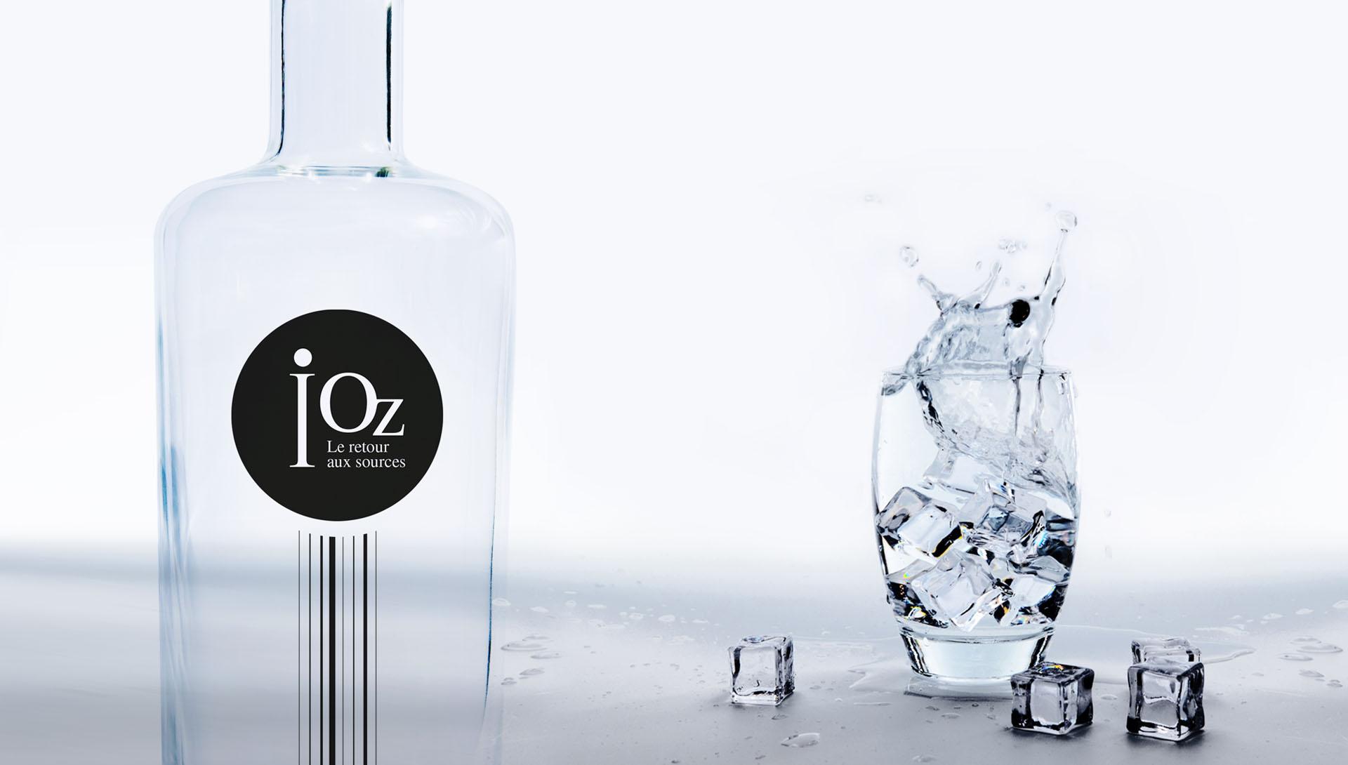image d'Accueil, bouteille d'eau iOz