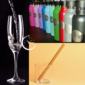 3 types de contenants pour boire de l'eau