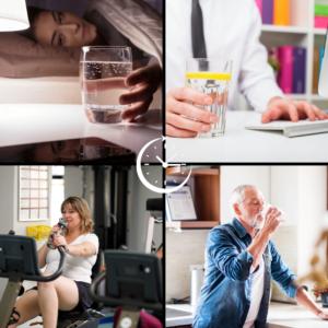 4 situations différentes pour boire de l'eau