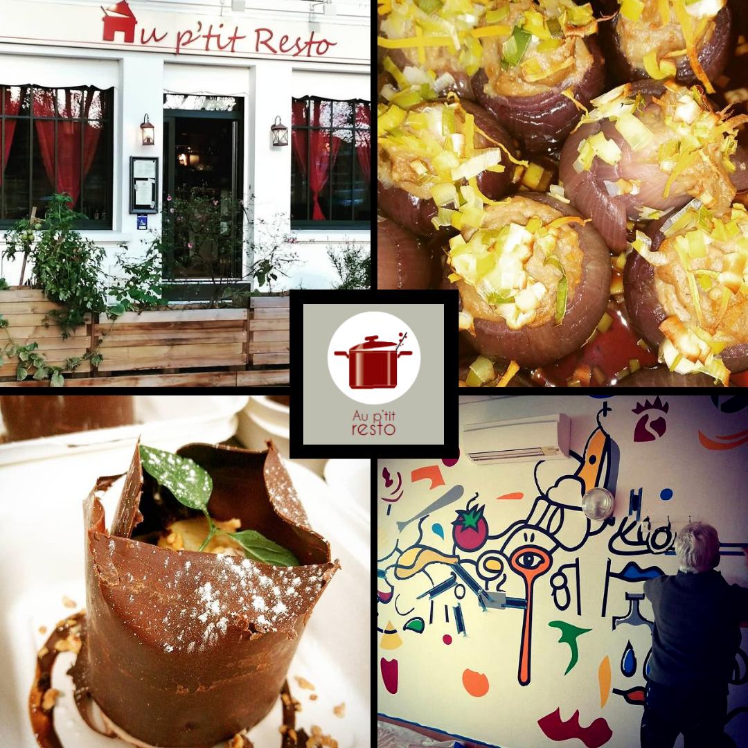 Quatre photos du restaurant Au P'tit Resto