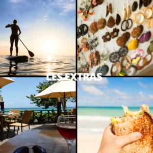 """Montage de 4 photos avec le titre """"Les extras"""""""
