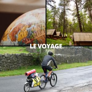 """Montage de 3 photos avec le titre """"Le voyage"""""""